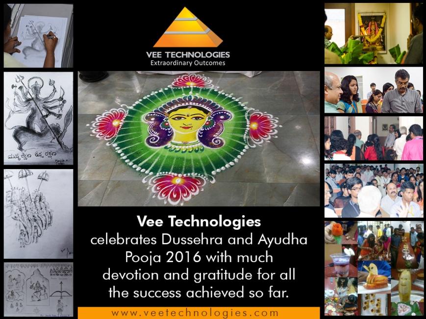 Dussehra Celebration at Vee Technologies - 2016